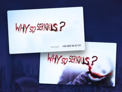 Joker business card - Dribbble playoff