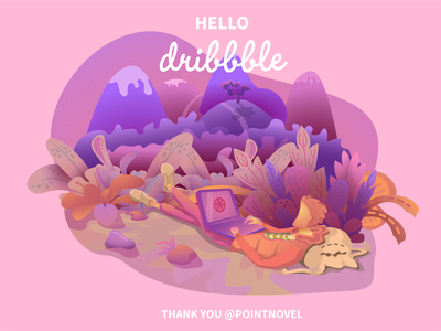 Hello Dribbble art vector design illustraion hello dribbble hello