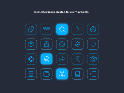 Set of dedicated icons iconography iconset icons bettingdesign appdesign mobiledesign webdesign