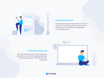 CrustLab's illustration icons branding icons web development ux illustration webdesign uxdesign