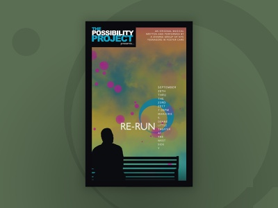 """Re-Run"" Theatrical Key Art theater posters key art theater design"