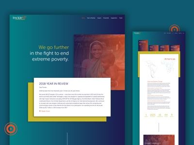 Annual Report Website for Trickle Up wordpress annual report web design website non-profit
