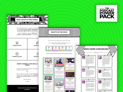 Podcast Power Pack Sales Page sales page wordpress website