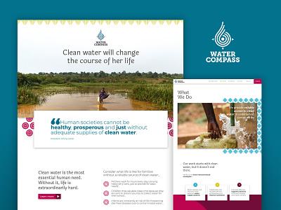 Water Compass Website logo webflow website