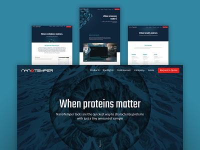 NanoTemper Website Facelift wordpress website