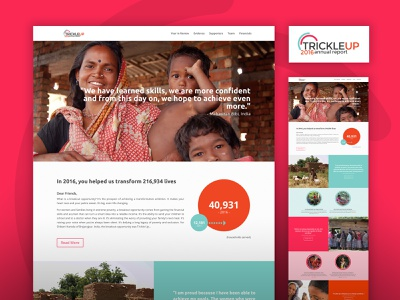 Annual Report Website for Trickle Up (2016) non-profit annual report wordpress website
