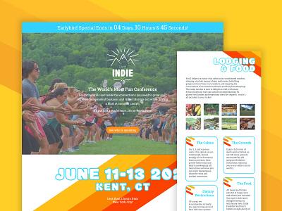 Camp Indie Website wordpress website