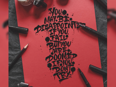"""""""you maybe be disappointed [..]"""" - Lettering"""
