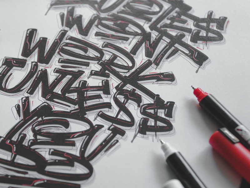 """Quotes won't work unless you do"" - Final Lettering process sketches sketch calligraphy lettering graphic art typography type snoozeone snooze illustration design"