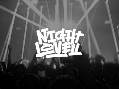 """Night lovell"" behindthescenes graphic design process sketches sketch calligraphy lettering graphic art type typography snoozeone snooze illustration design"