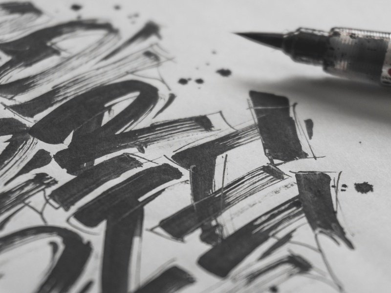 """Do or die"" Close up behindthescenes graphic design process sketches sketch calligraphy lettering graphic art typography type snoozeone snooze illustration design"