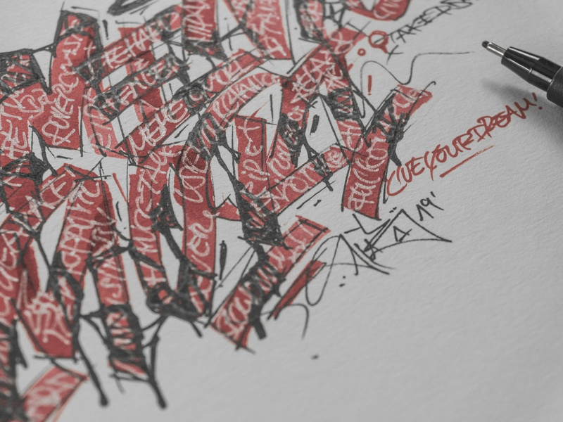 """Memento Mori"" close-up behindthescenes graphic design process sketches sketch calligraphy lettering graphic art typography type snoozeone snooze illustration design"