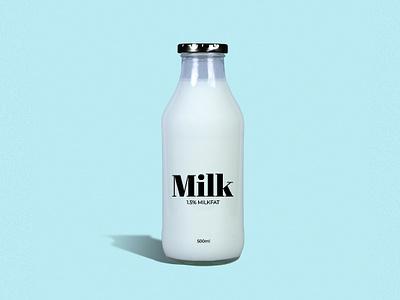 Milk - Bottle mockup typogaphy branding mock-ups milk carton milk mockup milk bottle milk cookies photoshop photo mockup logo mockup design mock ups mock-up mock up mockup design bottle mockup bottle label