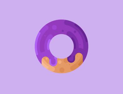 Delicious Donut logo minimal vector illustrator illustration icon flat design art donut