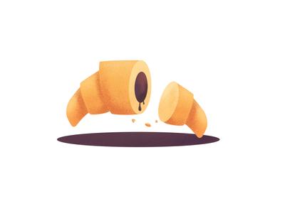 Delicious Croissant illustration illustrator vectors croissant graphic graphic design design vector