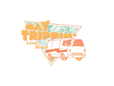 Day Trippin' road day tee graphic shirt classic retro high weed trippin van vintage 80s style