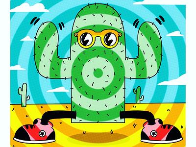 Cactus Jack thx trippy fun creative weed cartoon style sunglasses character cactus green