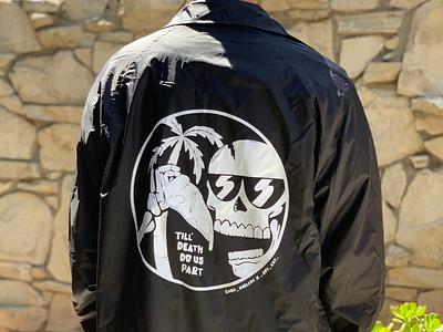 Till death do us part animation tree collaboration fashion style windbreaker skull pizza