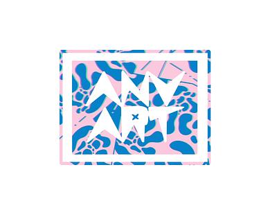 Blueberry ANVART fashion creativity creative font background art character branding color blueberry brand logo