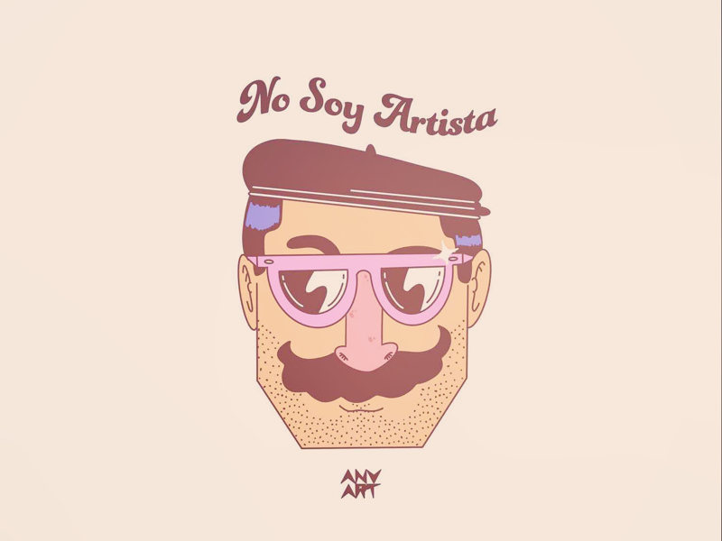 No soy nada hipster color photoshop procreate illustrator vector art artist mustache sun glasses fuck you style