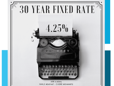 30y Fixed Rate At 4.25 Image