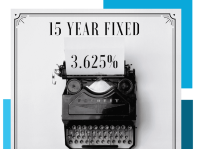15 Year Fixed Rate At 3.625