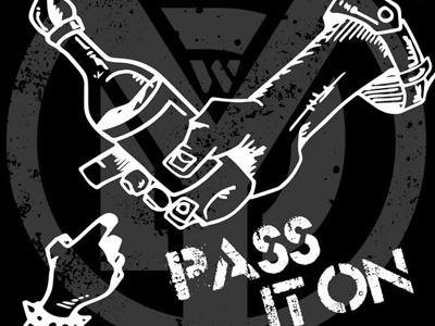 Record cover design for silk screen record illustration punk design
