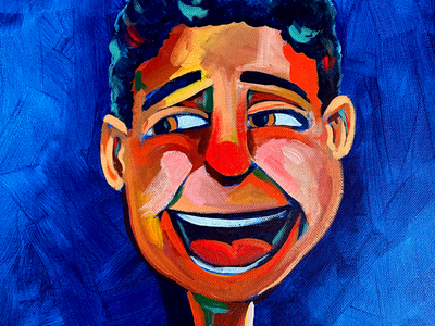 Side Laugh childrens book acrylic illustration