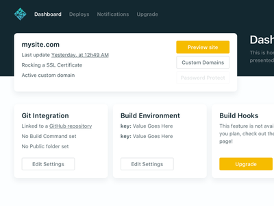 Dashboard (2.0 Sneak Peak) shadows navigation header cards redesign 2.0 netlify app web