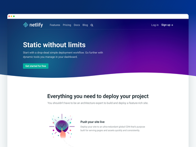 New Netlify Site: Features features landing marketing home page waves gradients illustration