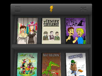 Shelf View Inkd inkd shelf ios iphone ui ux comics webcomics books