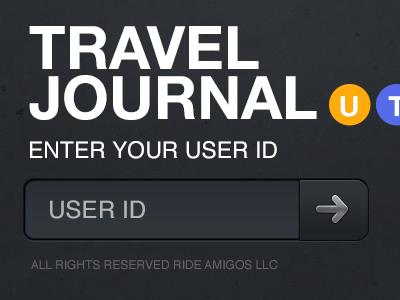 Travel Journal Login ios travel login form iphone ui