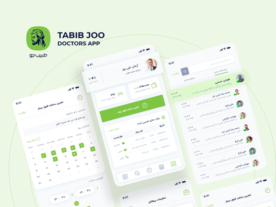 Tabibjoo App Dr dashboard app dashboard ui dashboad doctor flat application app ux ui design