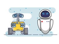 Wall- E and Eve