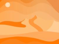 Orange sands