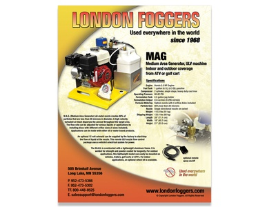 London Foggers - MAG photo shoot flyer design
