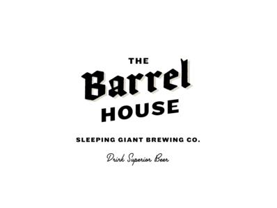 The Barrel House brandng brand lettering type logo beer craft beer