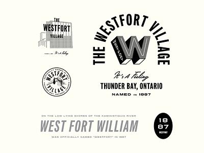Westfort Brand typography logotype brand logo municipality city district