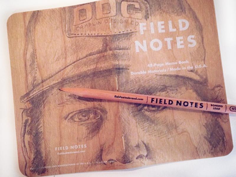 Draplin wood grain drawing field notes draplin