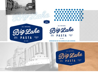 Big Lake Pasta Logo Design Board Small