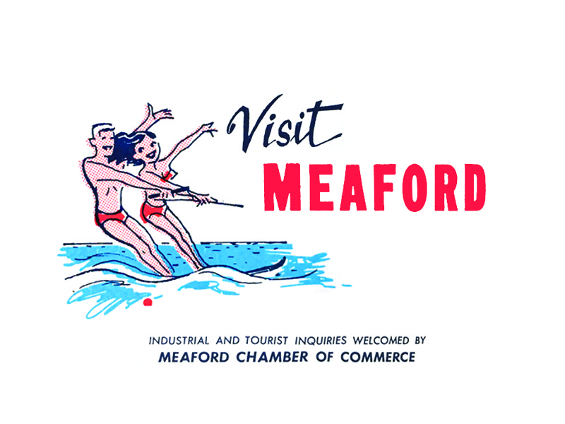 Visit Meaford logo typography vintage type vintage dot pattern halftone illustration lake water canada ontario tourism