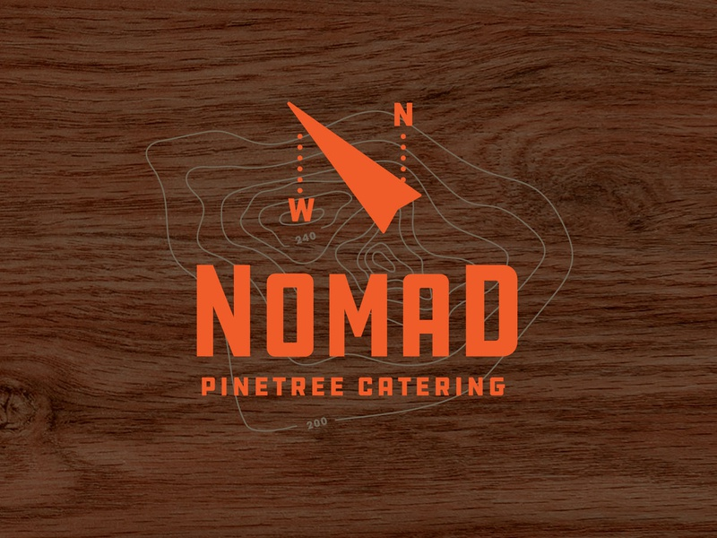 Nomad brand and identity canada direction north compass brand branding logo