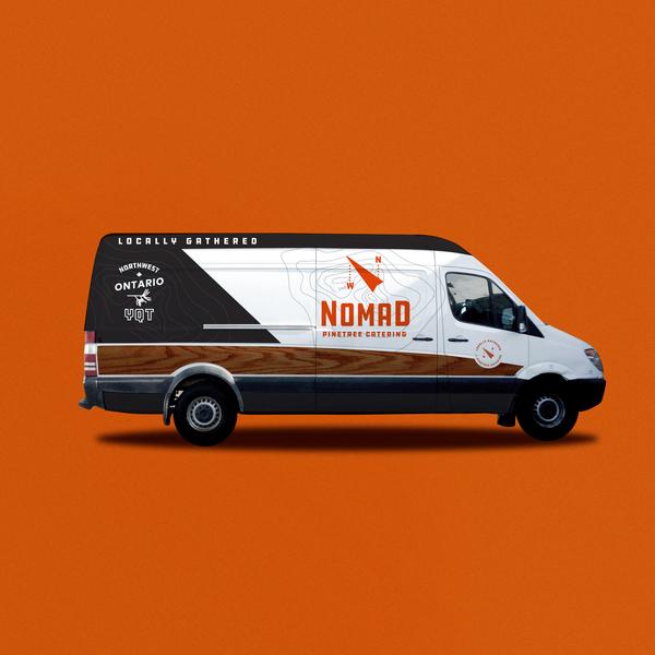 Nomad Van brand assets wood panel woodgrain wangoneer sprinter van wrap