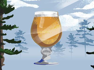 Beer Fest Poster illistration glass poster craft beer beer