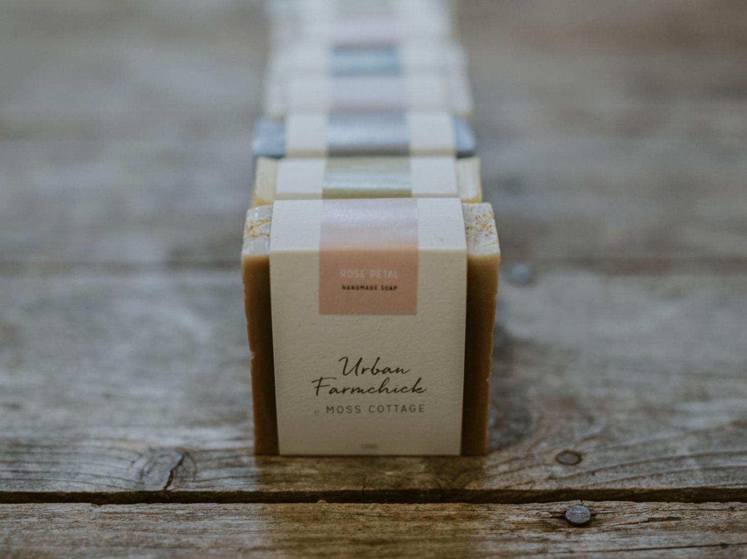 Urban Farmchick Soap essential oil labeldesign label packagingpro packaging mockup package packaging design