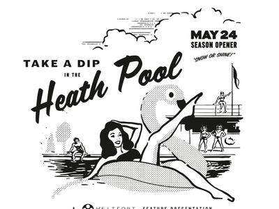Heath Pool illustration vector swimming pool shirt design tshirt shirt