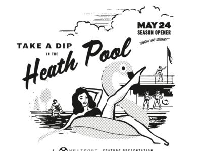 Heath Pool illustration vector swimming pool shirt design tshirt shirt