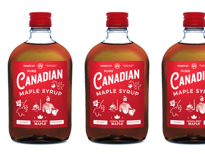 Maple Syrup Flask label packaging maple