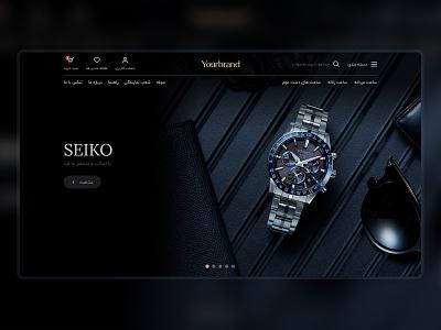Watch Store clean dark ui dark home page homepage minimal modern store shop vip brand luxury watch