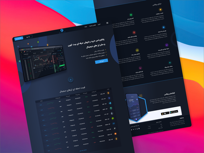 Cryptocurrency Exchange Dark Landing page home page landing page landing homepage dark ui dark exchange crypto exchange cryptocurrency